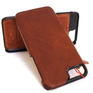 Genuine Real leather case for iphone  6 6s plus case cover business slim brown thin vintage style hard davis case