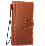 Genuine oiled vintage leather Case for Google Pixel XL book wallet luxury magnetic cover slim closure cards slots bright brown daviscase