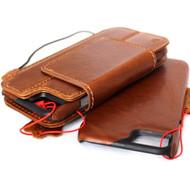 Genuine vintage leather slim case for iphone 7  cover book wallet credit card Removable detachable magnetic luxurey flip