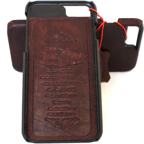 for Apple 6 6s  iphone 7 handmade real leather case slim (10) tretro oiled