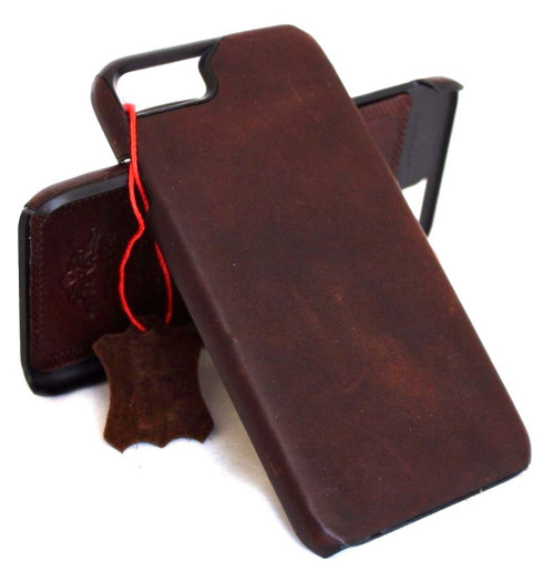 for Apple 6 6s  iphone 7 handmade real leather case slim (10) tretro oiled italian