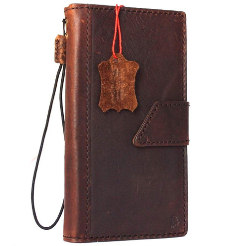 genuine real leather Case for apple iphone 7 plus book wallet slim cover Closure drs