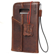 Genuine vintage leather for samsung galaxy s8 Case book wallet luxury 8 s Daviscase magnetic Closure