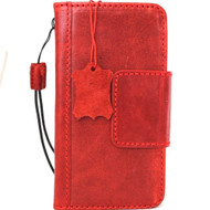 Genuine oiled leather Case for LG G6 slim cover book luxury magnetic wallet handmade Daviscase red H870 H870K H870V H870S
