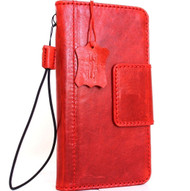 Genuine natural leather case for samsung galaxy s8 book wallet magnet cover luxury red cards slots 8 s magnetic Closure Daviscase