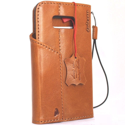 Genuine natural leather for samsung galaxy s8 Case book wallet luxury 8 s Daviscase magnetic 3D Closure lite slim