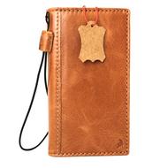 Genuine vintage leather Case for LG G6 book wallet cover slim luxury light brown thin handmade Daviscase H870 H870K H870V H870S