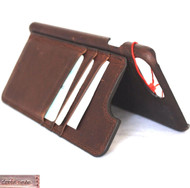 genuine leather Case for iPhone 7 plus 8+ wallet cover magnetic cards slots stand holder slim vintage brown daviscase
