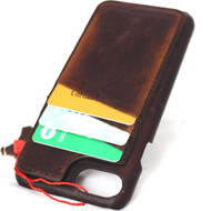 genuine leather Case for iPhone 6 6s Plus cover magnetic cards stand holder slim Davis