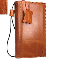 genuine vintage leather case for Galaxy NOTE 4  book wallet slim cover thin free shipping luxury cards slots bright brown daviscase