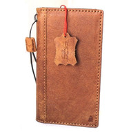 Genuine real leather case for LG G6 handmade vintage slim book wallet cover Davis