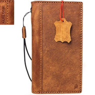 genuine real leather Case for Oppo R11 Plus book wallet cover Cards slots hand made slim brown Daviscase