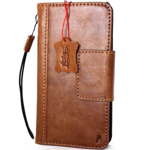 genuine leather Case fit apple iphone wallet handmade cover magnetic 10 holder davis
