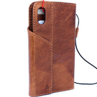 Genuine real leather Case for iPhone x vintage cover credit cards magnetic slots luxury lite Daviscase 10 cover holder
