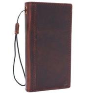 Genuine real leather Case for Htc  U11 book wallet luxury classc holder cover s Businesse cards slots slim elastic strap brown daviscase U 11
