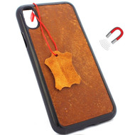 Genuine  leather Case for iPhone x vintage cover magnetic slim slots luxury lite Daviscase 10 cover