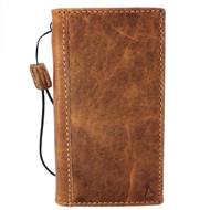 genuine real leather Case for iPhone x vintage cover credit cards slots luxury light brown slim Daviscase