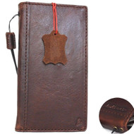 genuine vintage real leather case for iphone 8 plus  book wallet cover credit cards slots luxury slim flip RFID Pay daviscase