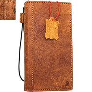 Genuine Leather Case for iPhone 8 Plus book wallet cover id window cards slots Slim vintage brown classic Daviscase