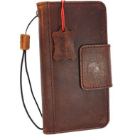 Genuine Tan vintage leather case for samsung galaxy s9 plus book wallet luxury magnetic cover slim Holder Daviscase
