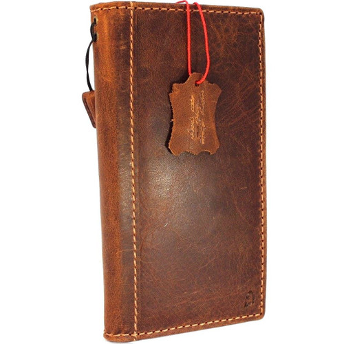 Genuine Tan vintage leather case for samsung galaxy s9 plus book wallet luxury cover slim Jafo Holder Daviscase fr