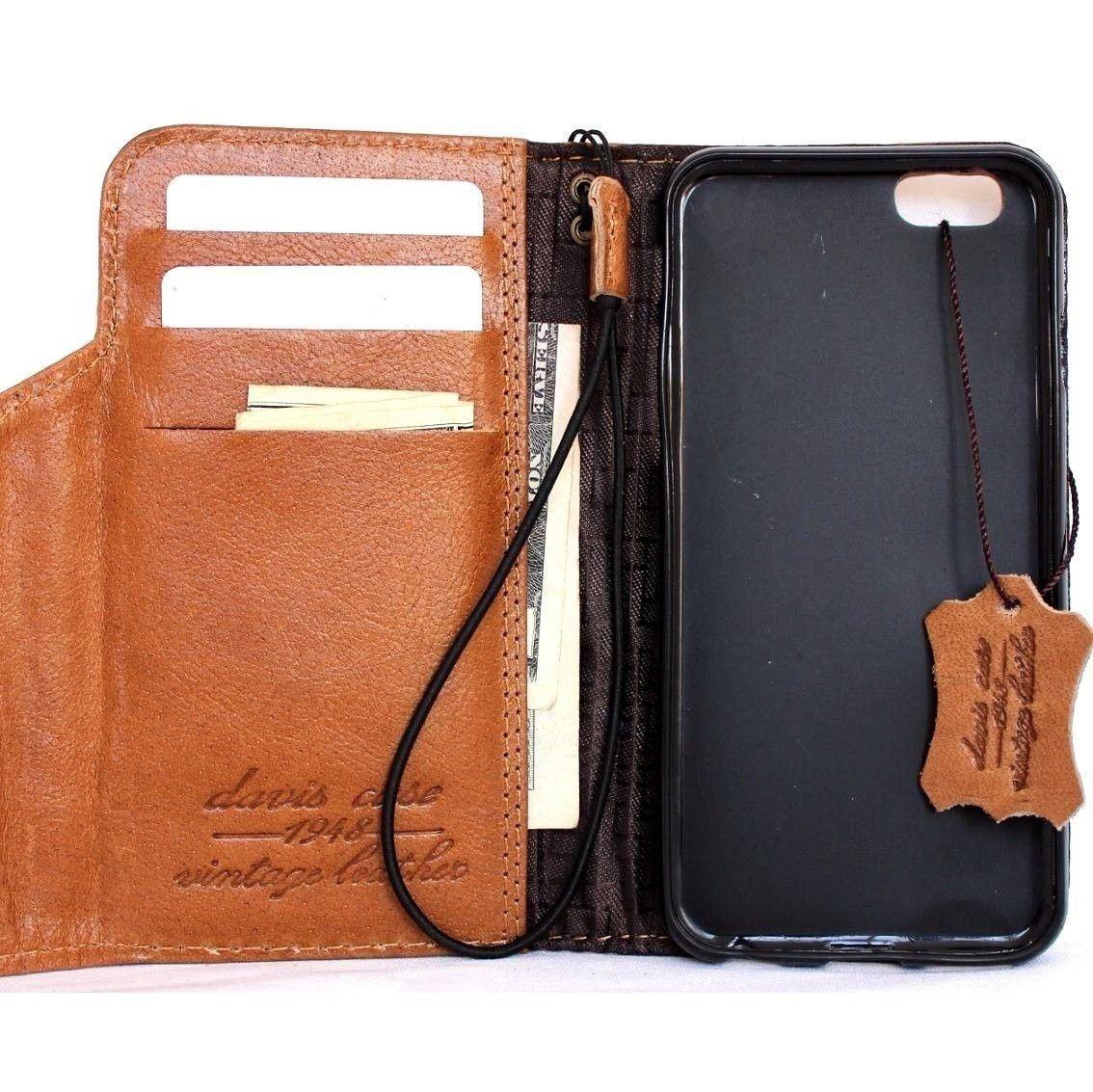 Genuine Real leather slim case for iphone 8 plus cover book wallet credit card luxurey flip slim magnetic PREMIUM 3D Jafo de