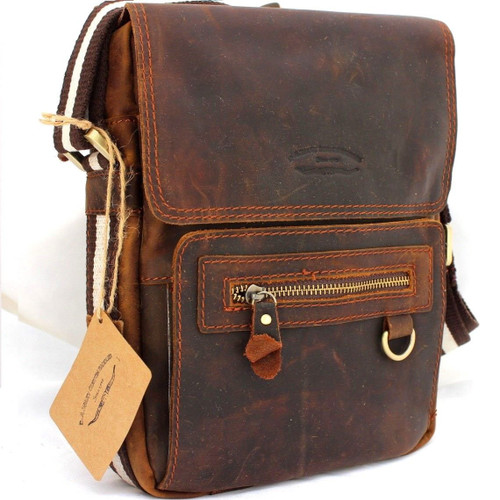 Genuine vintage Leather Bag Messenger for iPad air 4 handbag man tote ebook 11 tablet mini 3 Jafo a