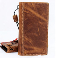 Genuine real leather Case for iPhone x vintage cover credit cards slots holder luxury brown Daviscase 10 slim