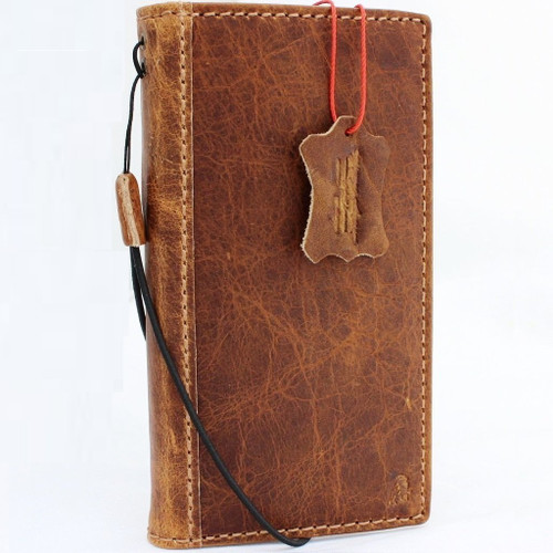Genuine real Leather Case for Iphone x Book Wallet Hand made cover S Luxury soft cards slots slim Holder Retro DavisCase ready wireless charging
