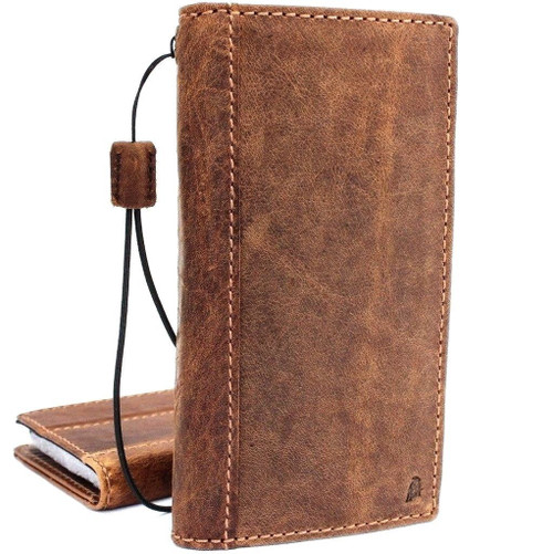 genuine leather Case fo Galaxy S9 Plus Cards Slim holder wireless charging cover DE