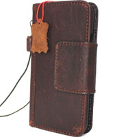 genuine leather Case for apple iphone x wallet handmade Rustic cover magnetic s