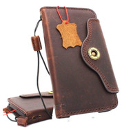 Genuine vintage leather case for samsung galaxy s9 book wallet luxury Supports wireless charging cover slim Holder Daviscase
