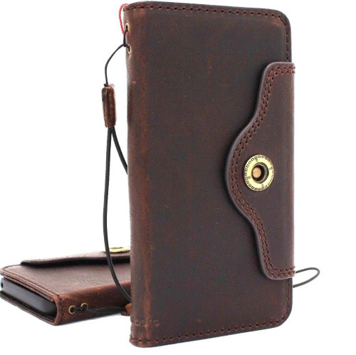 Genuine vintage leather case for samsung galaxy s9 plus book wallet luxury gel cover slim Holder  support wireless charger  jafo CH