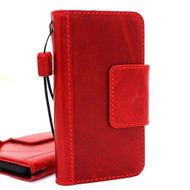 Copy of Genuine natural vintage leather case for samsung galaxy s9 Red wine book wallet luxury magnet cover slim Holder Daviscase