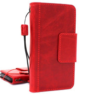 Genuine vintage leather case for samsung galaxy s9 plus book wallet luxury cover slim Red wine Holder Daviscase