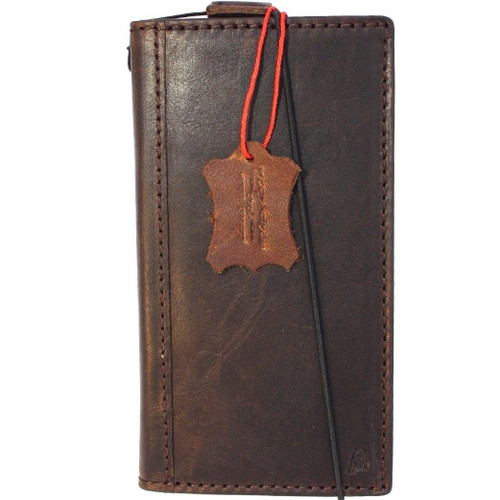 Genuine vintage leather case for samsung galaxy s9 book wallet cover luxury cards slots brown slim 9 s Daviscase ch