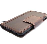 Genuine vintage leather Case for LG G7 book wallet magneti cover luxury slim handmade Daviscase soft Holder  wireless charging