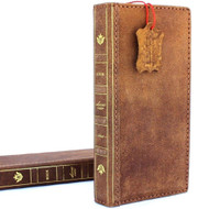Genuine vintage leather case for samsung galaxy note 9 book bible wallet cover soft vintage brown cards slots IL slim daviscase il