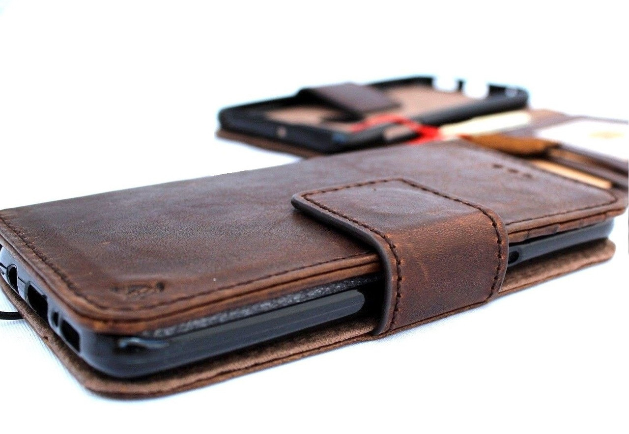 san francisco 5732c a0dad Genuine oiled leather Case For for LG V30 book Removable wallet magnetic  detachable cover luxury cards slots handmade art brown daviscase