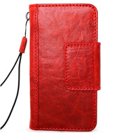 Genuine real leather Case for iPhone xs vintage cover credit cards magnetic slots luxury lite Daviscase 10 cover holder Red wine