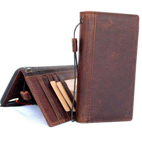enuine real leather Case for iPhone XS MAX vintage handmade cover credit cards classic slots luxury soft holder lite Daviscase Jafo xsmax