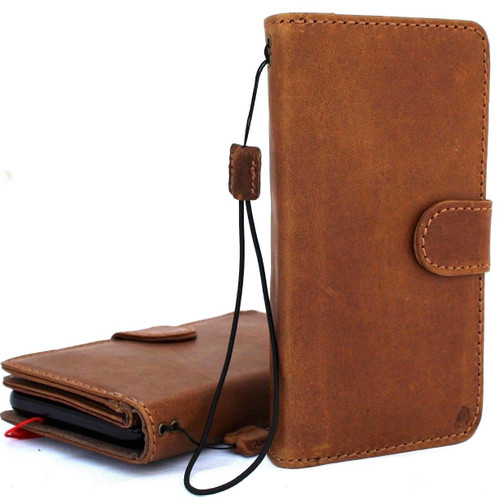 Genuine real leather Case for iPhone XS MAX vintage cover credit cards Removable car holder detachable magnetic slots luxury lite Daviscase 10 Top Jafo car  il