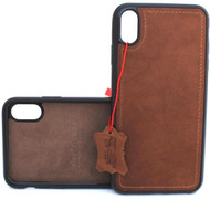 Genuine leather Case for iPhone XS vintage handmade cover luxury soft holder lite Daviscase magnetic Jafo car us
