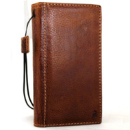 Genuine oiled leather Case for iPhone xs vintage cover credit cards slots holder luxury espresso brown Daviscase