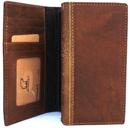 Genuine real leather Case for iPhone xs vintage cover credit cards bible book handmade  luxury Tan Daviscase holder slim wireless charging Jafo