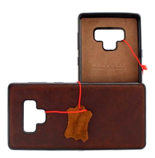 Genuine leather case for Samsung Galaxy Note 9 book handmade cover slim magneticsoft holder Daviscase vintage