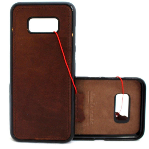 Genuine vintage leather case for samsung galaxy s8 magnetic cover car slim luxury rubber 8 s Daviscase