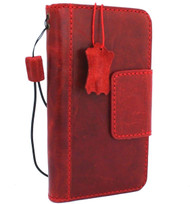 Genuine real leather Case for iPhone XR vintage handmade Red wine cover credit cards classuc slots bibleTan book luxury holder lite Daviscase Jafo