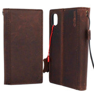 genuine leather Case for apple iphone XR wallet handmade cover soft holder B