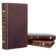genuine leather Case for iphone XR wallet handmade cover bible book holder